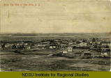 Birds eye view of Glen Ullin, N.D.