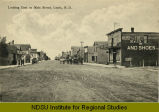 Looking east on Main Street, Leeds, N.D.