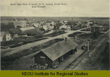 Bird's eye view of Leeds, N.D. looking south west from elevator