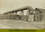 Pedestrian bridge over Minneapolis, St. Paul & Sault Ste. Marie Railroad tracks, Harvey, N.D.