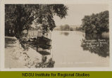 Pleasure boats on Sheyenne River, Lisbon, N.D.