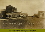 View north on Main St., Kulm, N.D.