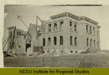 La Moure County Courthouse under construction, La Moure, N.D.