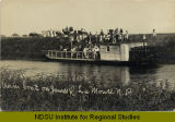Steam boat on James River, La Moure, N.D.