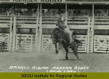 Bronck riding, Mandan Rodeo (doubleday)