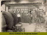 Interior of Vally City, N.D. power plant