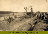 Northern Pacific Railroad track construction, Mott, N.D.