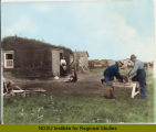 Carl E. Jerdin sod house, near Soper Post Office, North Dakota : taken September 1897