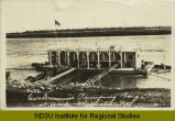 Government pumping barge at work, Williston, N.D.