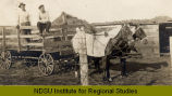 Horse-drawn wagon near Tuttle, N.D.