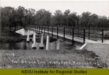 Foot bridge into Island Park, Mayville, N.D.
