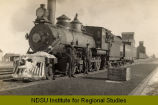 Great Northern Railroad locomotive at St. John, N.D.