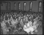 Crowds at Dr. Fred W. Rose retirement, Berg Memorial gymnasium, Cooperstown, N.D.