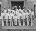 Uniformed women's group, Ancient Order of United Workmen convention, Fargo, N.D.