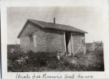 Uncle Joe Brown's sod house