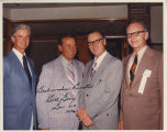 Lawrence Welk with Governor Bill Guy, Rolly Hogue and Bob Mason