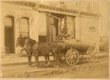 John C. Wichmann, team of two horses and man on cart
