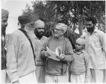 Richard Critchfield with group of Punjabi men