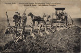 Casselton, N.D. Plowing with Gasoline Tractor pulling Twelve 16 inch Plows, on John B. Sinner's...