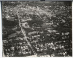 Aerial over Hawthorne neighborhood looking north, Fargo, N.D.