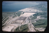 Garrison Dam spillway and settling basin under construction