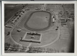 Aerial looking east over the North Dakota State Fairgrounds, Fargo, N.D.