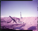 Dragline tower & electric shovel at Truax Traer Co. lignite mine near Garrison, N.D.