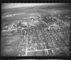 Aerial view over Fargo, N.D. after 1957 tornado