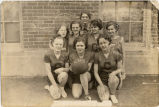 High School Girls basketball team, Christine, N.D.