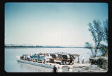 Ferry along shore of Missouri River, N.D.