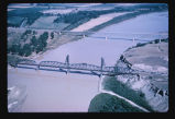 Bridges over the Yellowstone River, between Cartwright, N.D. and Fairview, Montana