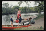 Preparing to canoe on Sheyenne River, N.D.
