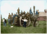 At the end of the threshing season Anders Hultstrand's rig and crew, Fairdale, North Dakota