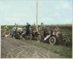 Stop for 'refreshments' Hunting party near Dry Lake, North Dakota