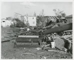Tornado wreckage with piano, Fargo, N.D.