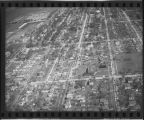 Aerial over north Fargo, N.D. after tornado