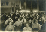 Students seated in classroom, Drayton High School, Drayton, N.D.