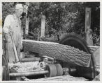 Einar Hagen with his saw mill