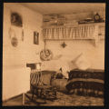 Interior of Margaret McDermott Jennings' homestead shack, South Heart, N.D.