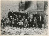 Insurance adjusters after fire of 1893, Fargo, N.D.