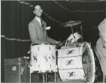 Sonny Greer on drums, Duke Ellington's band, Crystal Ballroom, Fargo, N.D.