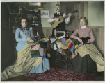 Harmony in the home, in more ways than one : Mrs. Ole I. Gjevre, Ole I. Gjevre, Mrs. Lars Erickson, Fairdale,