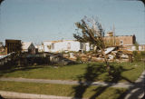 Tornado damage on 11th Street N., Fargo, N.D.