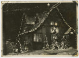 H. M. Hanson residence with Christmas lights, Grafton, N.D.