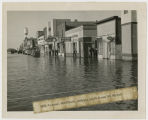 Hill Avenue during flood, Grafton, N.D.