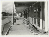Sandbagged storefronts, Grafton, N.D.