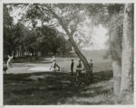 Golfers on the course at the Fargo Country Club