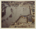 Aerial over 2nd Street N. during Red River flood, Fargo, N.D.