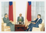 North Dakota Gov. George Sinner meeting with Lee Teng-hui, President of Taiwan, during trade...
