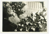 Woman postmortem in casket